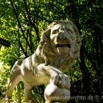 lion statue at Sollidens Slott, Öland, Sweden