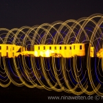Lightpainting in front of Borgholms Slott, Öland, Sweden