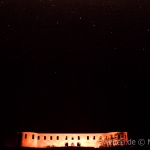 Starry sky above Borgholms Slott